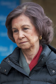 Queen Sofia wore a curly bob while visiting King Juan Carlos at the hospital.