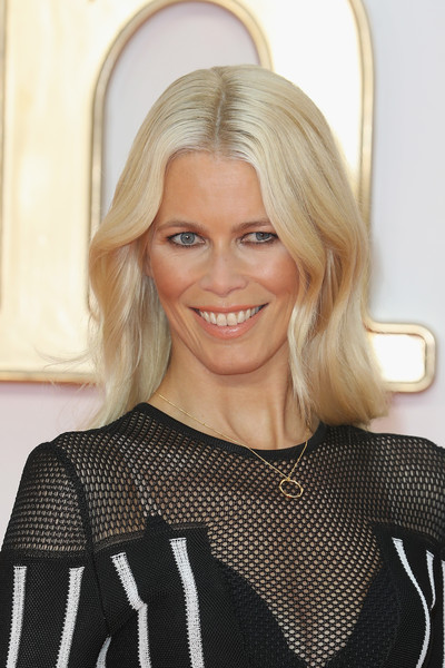 Claudia Schiffer stuck to her signature blonde waves when she attended the world premiere of 'Kingsman: The Golden Circle.'