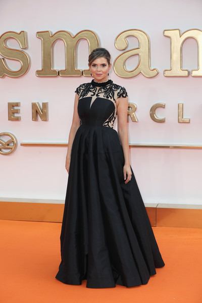 Carly Steel attended the world premiere of 'Kingsman: The Golden Circle' looking regal in a black-and-white ball gown with a beaded bodice.