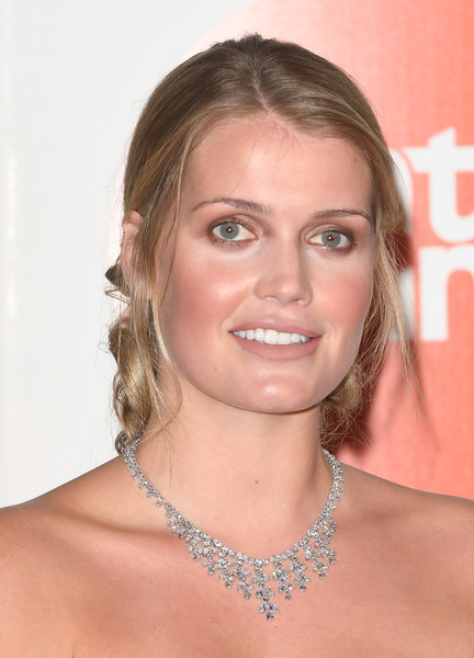 Kitty Spencer Diamond Chandelier Necklace [hair,face,eyebrow,hairstyle,shoulder,chin,blond,skin,beauty,forehead,kitty spencer,the palace,kensington palace,london,england,duke of cambridge attends centrepoint,centrepoint]