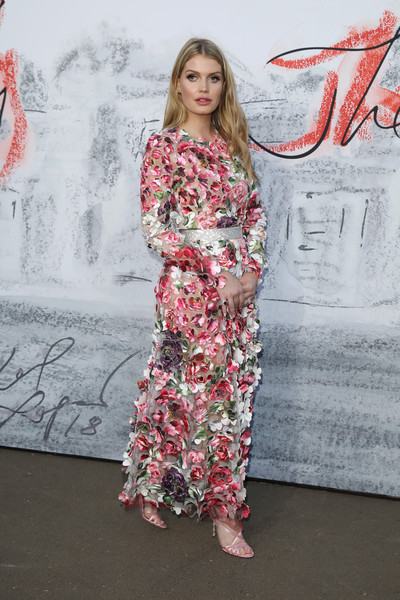 Kitty Spencer Evening Dress [movie,clothing,red,fashion,dress,pink,fashion design,pattern,fashion model,textile,long hair,dress,kitty spencer,arrivals,harry,diana,fashion,princess,serpentine summer party,wedding,lady kitty spencer,wedding of prince harry and meghan markle,princess,2018 mtv movie tv awards,dress,dolce gabbana,fashion,diana princess of wales,charles spencer]