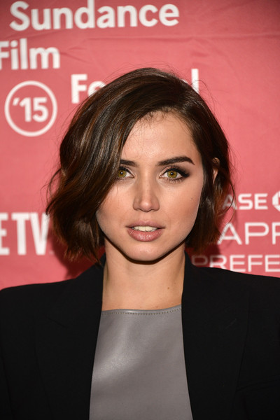 More Pics of Ana de Armas Strappy Sandals (4 of 10) - Heels Lookbook - StyleBistro [knock knock premiere,hair,face,hairstyle,eyebrow,lip,chin,beauty,forehead,premiere,cheek,ana de armas,utah,park city,sundance film festival]