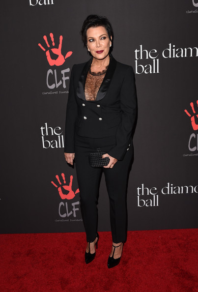 Kris Jenner Platform Pumps [1st annual diamond ball benefitting the clara lionel foundation,the inaugural diamond ball,clothing,suit,pantsuit,premiere,formal wear,fashion,tuxedo,carpet,flooring,red carpet,rihanna,kris jenner,arrivals,california,beverly hills,the vineyard,clf]