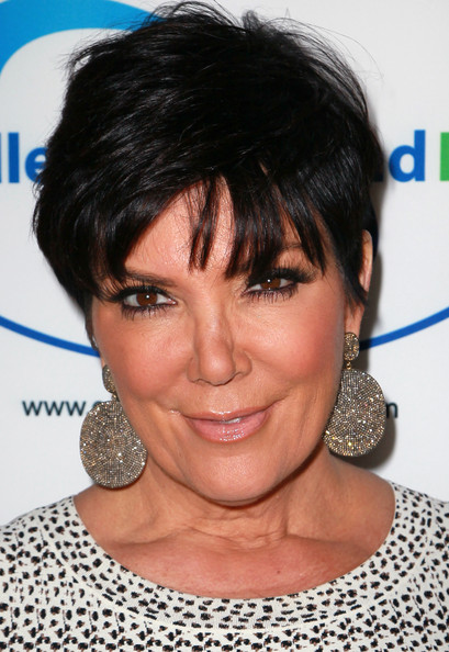 Kris Jenner Messy Cut [hair,face,hairstyle,eyebrow,chin,black hair,head,bangs,pixie cut,forehead,kris jenner,store,beverly hills,california,endless youth life,celebration,endless youth life store opening celebration]