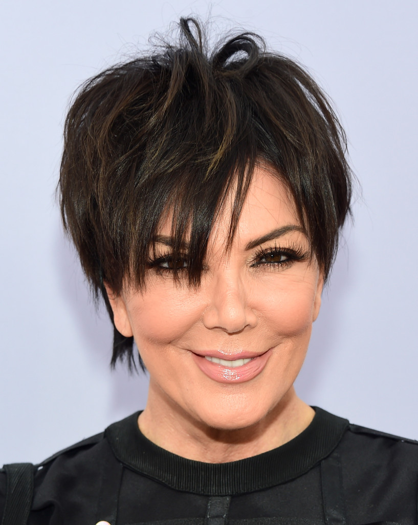 Kris jenner hair stylebistro kris jenner attended the women in entertainment breakfast wearing her signature messy layered cut urmus Gallery