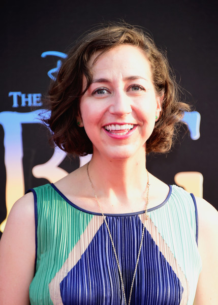 Kristen Schaal Curled Out Bob [the bfg,hair,face,hairstyle,beauty,eyebrow,chin,smile,lip,blond,brown hair,arrivals,kristen schaal,california,hollywood,el capitan theatre,disney,premiere,premiere]