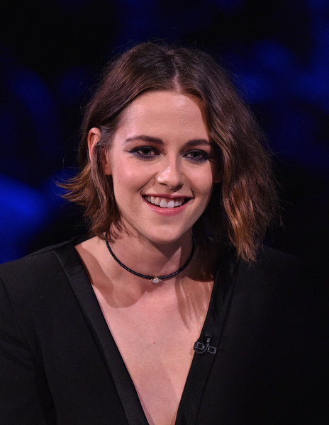 Kristen Stewart accessorized with a moonstone choker by Jacquie Aiche.