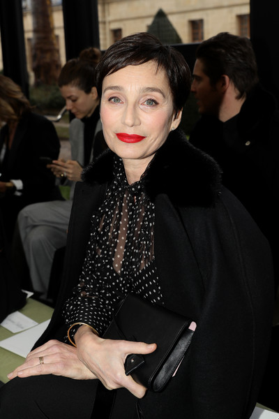 Kristin Scott Thomas Leather Clutch