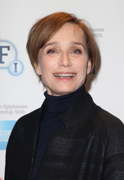 Kristin Scott Thomas sported a casual short hairstyle at the BFI Screen Epiphanies series.