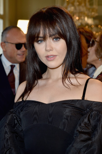 Kristina Bazan Long Straight Cut with Bangs