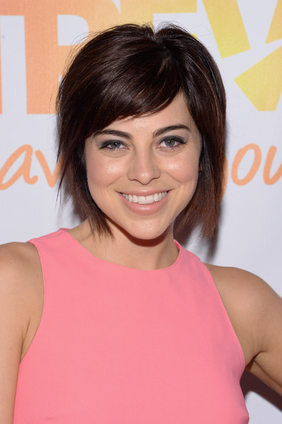 Krysta Rodriguez Short Scene Cut [hair,face,hairstyle,eyebrow,beauty,chin,brown hair,shoulder,hair coloring,blond,arrivals,krysta rodriguez,trevorlive ny,part,new york city,marriott marquis hotel,trevor project,event]