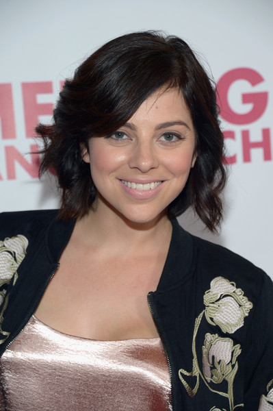 Krysta Rodriguez Short Wavy Cut [hair,hairstyle,black hair,bangs,brown hair,layered hair,long hair,smile,feathered hair,hedwig and the angry inch,california,hollywood,pantages theatre,arrivals,krysta rodriguez]