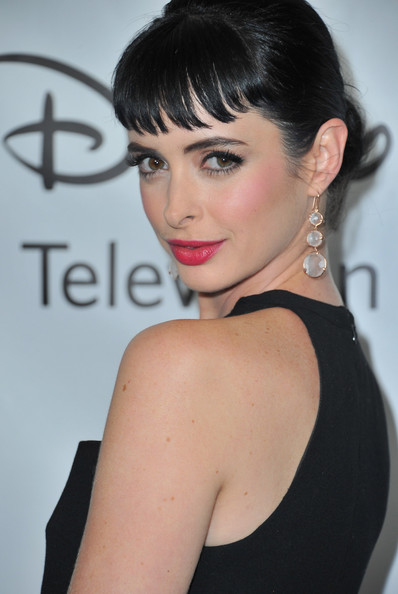 Krysten Ritter Dangling Crystal Earrings