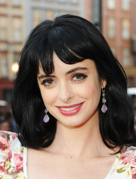 Krysten Ritter Dangling Gemstone Earrings