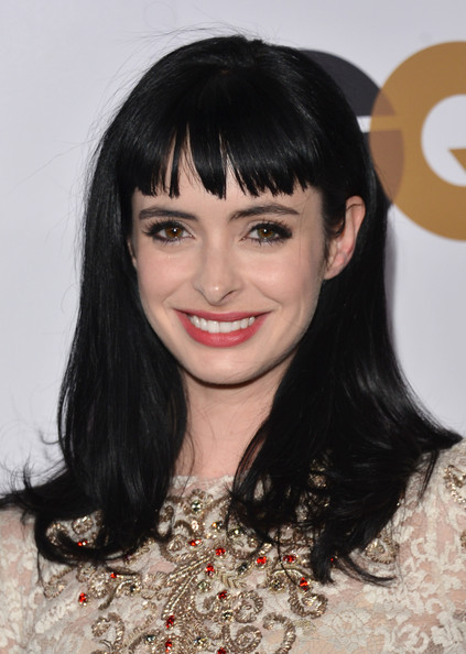Krysten Ritter Long Straight Cut with Bangs