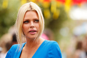 Sophie Monk pulled her blonde tresses back into a loose ponytail for the 'Kung Fu Panda 3' premiere.
