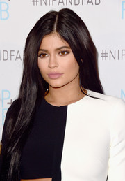 Kylie Jenner stuck to her usual long straight style when she attended her presentation as brand ambassador for Nip + Fab.