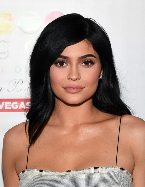Kylie Jenner Long Side Part