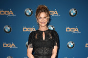 Kyra Sedgwick Fringed Dress