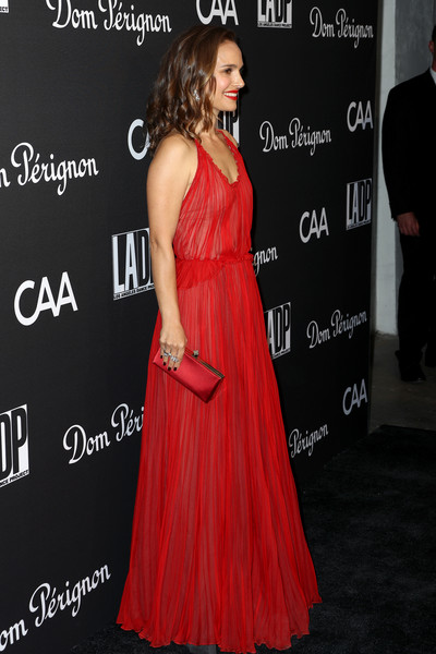More Pics of Natalie Portman Dangling Diamond Earrings (3 of 21) - Dangle Earrings Lookbook - StyleBistro [l.a. dance project,dress,clothing,shoulder,gown,carpet,red carpet,a-line,hairstyle,premiere,joint,natalie portman,los angeles,california,hauser wirth,gala,annual gala - arrivals]