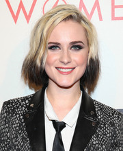 Evan Rachel Wood was punk-chic with her dip-dyed bob at the 2014 An Evening with Women event.