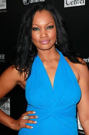Garcelle Beauvais wore a glistening silver metallic nail polish at a benefit for Homeless Youth Services in LA.