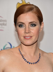 Amy Adams chose a gorgeous sapphire necklace by Irene Neuwirth.