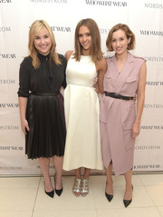 Jessica Alba looked simply lovely in this elegant LWD during the Who What Wear @ The Grove event.