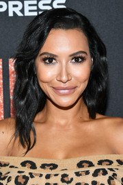 Naya River attended the LA premiere of 'Judy' wearing her hair in a subtly wavy style.