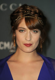 Florence was the Renaissance queen in this braided updo at the Gucci soiree.