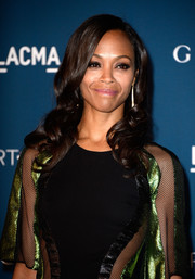 Zoe Saldana styled her hair with lovely curls for the LACMA Art + Film Gala.