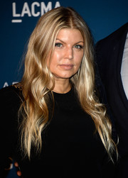 Fergie sported a boho vibe with this long center-parted wavy 'do at the LACMA Art + Film Gala.