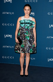 China Chow looked frou-frou in a heavily beaded Mary Katrantzou cocktail dress with a ruffled yoke during the LACMA Art + Film Gala.