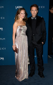 Susan Downey looked divine in a strapless silver gown during the LACMA Art + Film Gala.