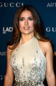 Salma Hayek went for retro elegance with this feathered flip when she attended the LACMA Art + Film Gala.
