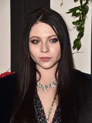 Michelle Trachtenberg showed off sleek tresses at the Land of Distraction launch.