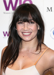 Daisy Lowe was casually coiffed with a subtly wavy 'do and eye-grazing bangs during the LDNY fashion show and WIE Award Gala.