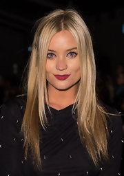 Laura Whitmore attended the Felder Felder fashion show wearing her hair in sleek layers.