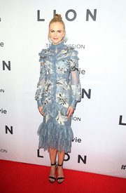 Nicole Kidman went extra frilly in a pastel-blue floral lace dress by Erdem for the Australian premiere of 'Lion.'