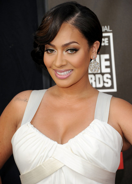 La La Anthony Dangling Gemstone Earrings