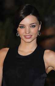 Miranda Kerr paired her elegant bun with stunning diamond drop earrings at the La Mamounia Hotel Inauguration.