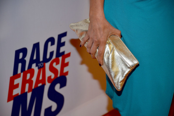 Lacey Chabert Metallic Clutch