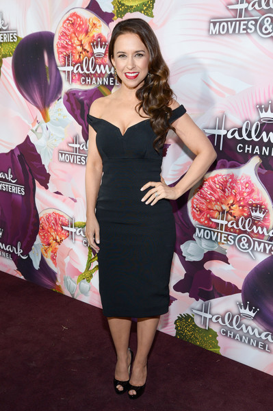 Lacey Chabert Off-the-Shoulder Dress