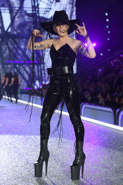 Lady Gaga Lace Up Boots