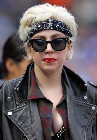 Lady Gaga Messy Cut