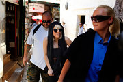 Lady Gaga was spotted doing some sight seeing in Israel wearing a wood cross pendant.