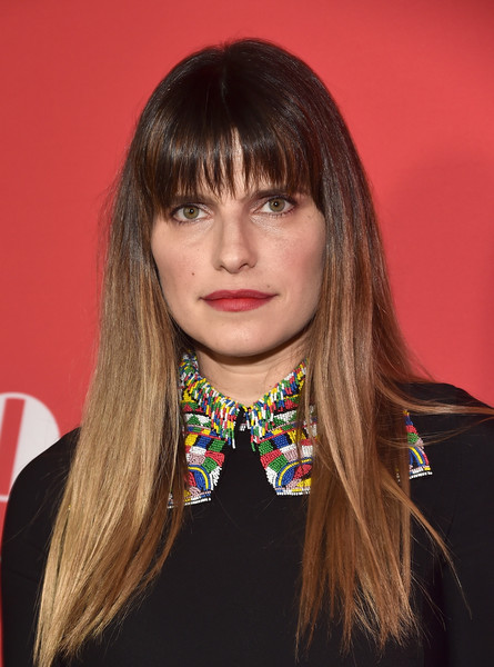 Lake Bell Long Straight Cut with Bangs
