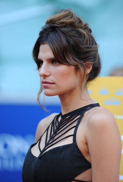 Lake Bell Messy Updo