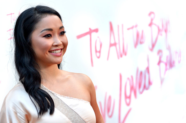 Lana Condor Long Wavy Cut [entertainment pictures of the month,to all the boys ive loved before,hair,skin,facial expression,beauty,pink,smile,hairstyle,lady,chin,lip,lana condor,culver city,california,arclight cinemas,netflix,los angeles special screening]