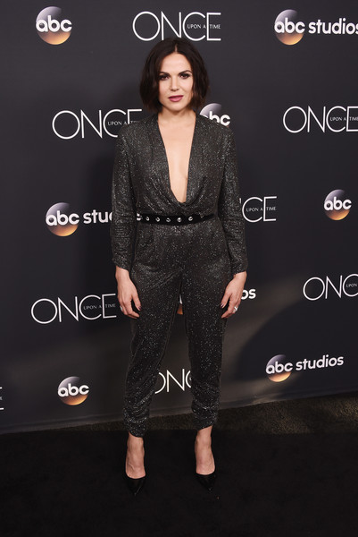 Lana Parrilla Jumpsuit [once upon a time,clothing,dress,fashion,premiere,carpet,long hair,little black dress,style,formal wear,black hair,lana parrilla,finale screening,the london west hollywood,california,beverly hills,finale screening]